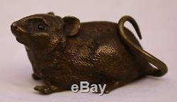 Magnificent 1900 3p Austrian Bronze Rats Must See