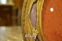 Magnificent 1900's French Bronze Enamled Oval Picture Frame Must See