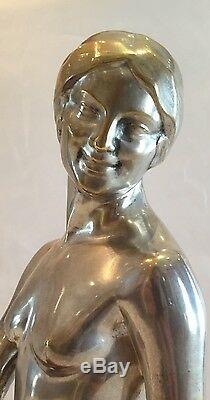 Magnificent Art Deco Bronze Plateu By Paul Silvestre, Susse Foundry (must See)