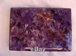 Magnificent Charoite Box Made In Italy'must See