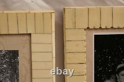 Magnificent French Pair Of Art Deco Bone Picture Frames, Must See