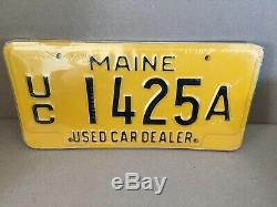 Maine Used Car Dealer License Plate Lot New Old Stock 5 Plates Must See