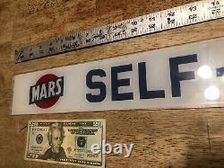 Mars Gas Station Glass Self-Serve Gas Pump Sign, Pueblo Colorado, must See, Scarce