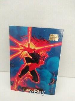 Marvel Masterpiece 1994 VERY RARE ERROR CARD FRONT/BACK DIFFERENT HERO MUST SEE
