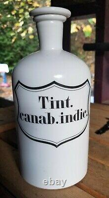 Must See! Huge Cannabis Indica Apothecary Jar This is Awesome! Polished Pontil
