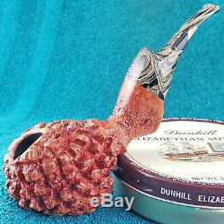 NEW UNSMOKED! NATE KING LARGE CREATURE FREEHAND AMERICAN Estate Pipe MUST SEE