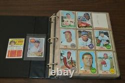 NICE 1960's-1970's VINTAGE BASEBALL CARD COLLECTION IN BINDER! MUST SEE