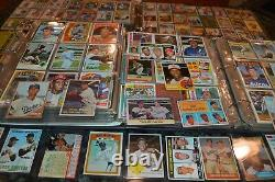 NICE VINTAGE BASEBALL CARD COLLECTION IN BINDERS FROM THE 1950s-1980s! MUST SEE