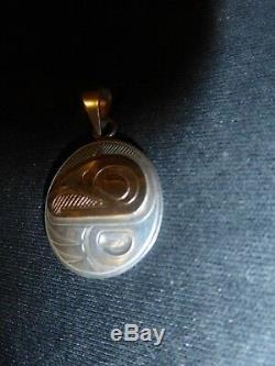 NW Coast Kwakwaka'wakwithCree Eagle Silver-14K Gold Pendent Must See
