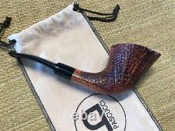 New, Unsmoked Mario Pascucci, Sandblasted Briar With Plateau, Must See
