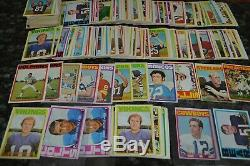 Nice 1972 Topps Football Card Collection! Around 250 Cards! Must See