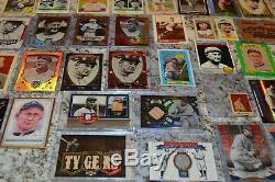Nice Ty Cobb Game Used & Insert Baseball Card Collection! Must See