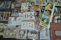 Nice Vintage, Game Used & Insert Baseball Card Collection! Must See