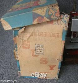 Nice Vintage Toy Sewing Machine, Tin Toy, Argentina, With Box, Works, Must See