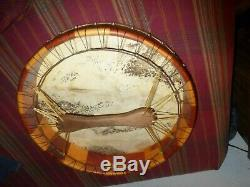 Northwest Coast First Nation Hand Made Eagle Drum withbeater! Must See