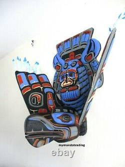 Northwest Coast First Nations native art carved 3D Eagle, must see masterpiece