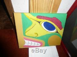 Northwest Coast Haida Original UP Free Fourm Acrylic Painting! Must See