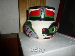 Northwest Coast Salish Eagle-Salmon-Bear Pottery by Stewart Jacobs. Must see