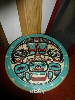 Northwest Coast Transfer Nation Haida Hand Made Transformation Drum-Must See