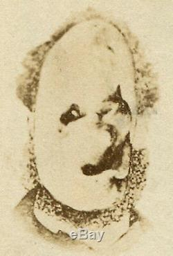 ODD FREAK CHARACTER/DOG-What Is It CDV OF ART WORK. MUST SEE 1878