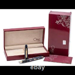 OMAS EXTRA OGIVA GOLD HAND-BRUSHED LACQUER FP 18k M nib MUST SEE