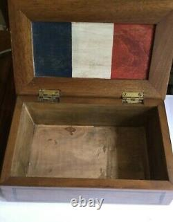 Old Bill Decorated Ww1 Wooden Trech Art Cigar Box Quality Unique Must See