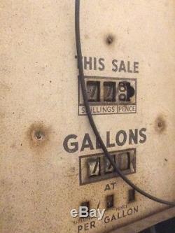 Original 1950s Petrol Pump. Shell Light. Petronalia. Functional MUST SEE