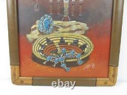 Original Native American Navajo Oil Painting Daniel Yazzie Signed Art MUST SEE