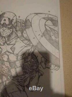 Original art by Jonboy Meyers Captain America Ultimate Detail Must See! Pencils