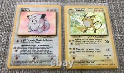 Pokemon Base Set HOLOS Bundle X10! MUST SEE