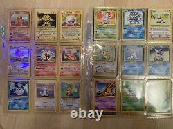 Pokemon Cards COMPLETE 100% Base Set 102/102 Ultra Pro VINTAGE RARE MUST SEE