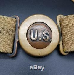 Pre WW1 US American Mills Model 1910 Garrison Belt Mexican Border War MUST SEE