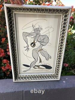 RARE Billy Snell Midcentury Art Jazz Print Must See