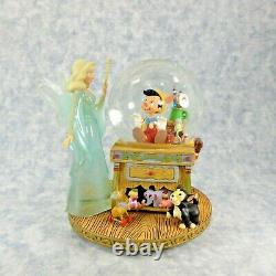 RARE Disney Pinocchio and the Blue Fairy Snowglobe Sealed In Box New Must See