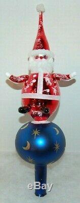 Radko SKY SANTA FINIAL 96-019-0 Italian Christmas Topper RARE AMAZING MUST SEE