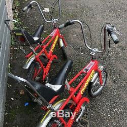Raleigh chopper mk3 Red X2 Bikes All Original Parts Brakes&gears Work! Must See