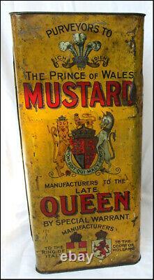 Rare Big Shop Counter Display Tin Colman's Mustard 1900 Must See