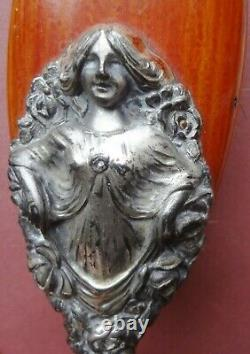Rare! C1880-1910 Very Ornate Sterling Art Nouveau Lady Dresser Set Must See