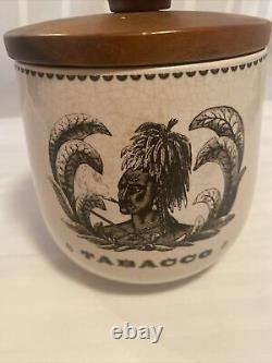 Rare Savinelli Italy Tobacco Jar Indian Must See