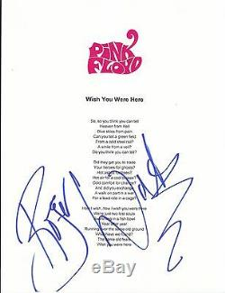 Roger Waters signed Pink Floyd lyrics in person Must See