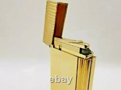 S. T. DUPONT GOLD LIGHTER WITH BOX & PAPERS! Ligne 2, Line 2, L2 MUST SEE