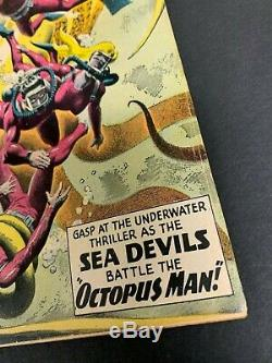 SEA DEVILS #1 VERY SHARP! (DC, 1961) Grey tone Cover! MUST-SEE