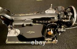 SINGER SEWING MACHINE 201-2, Fully Refurbished, SEWS LEATHER MUST SEE