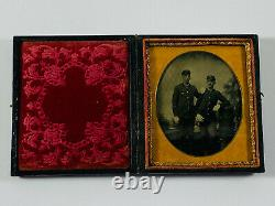 STUNNING 1/6th Plate Civil War Soldiers in Uniform MINT image in Case MUST SEE