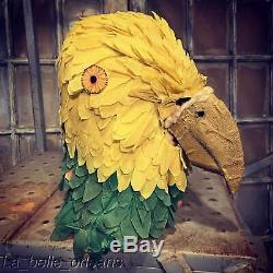 STUNNING 1930s CREPE PAPER PARROT COSTUME. SUPERB QUALITY. MUST SEE. L@@k