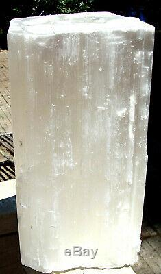 Selenite Log-X-LARGE-19 lbs 8 ounces -10 1/2 inches tall-Free Shipping-Must See