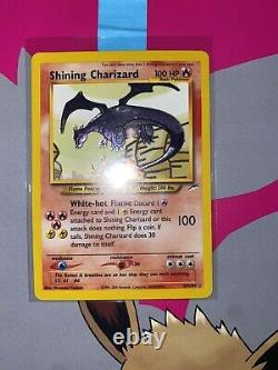 Shining Charizard Neo Destiny 107/105 Secret Rare Near Mint! MUST SEE