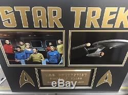 Star Trek TOS USS Enterprise Dedication Plaque Unique Framed Display Must See