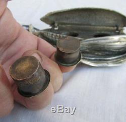 Superb Cob Corn Inkwell, Nickeled Bronze, Very Detailed, Very Rare, Must See