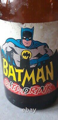 Ultra Rare 1967 Batman Soda Bottle Blits-drink Plus Glass ##must See##